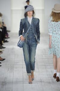 Seeing a lot on the fashion runways. Denim!
