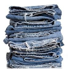 """Denim is the """"fashion word"""" this season. Look for it on many items & fabric for the home."""