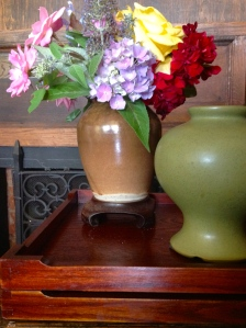 Not every container needs to be filled. Arrange a small vignette.