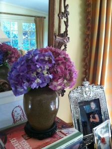 Hydrangea are the easiest to arrange & so colorful
