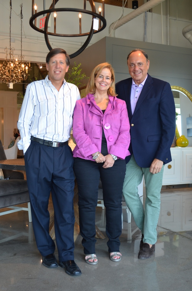 David and Glyn Austin of Cocoon Interiors Showroom.