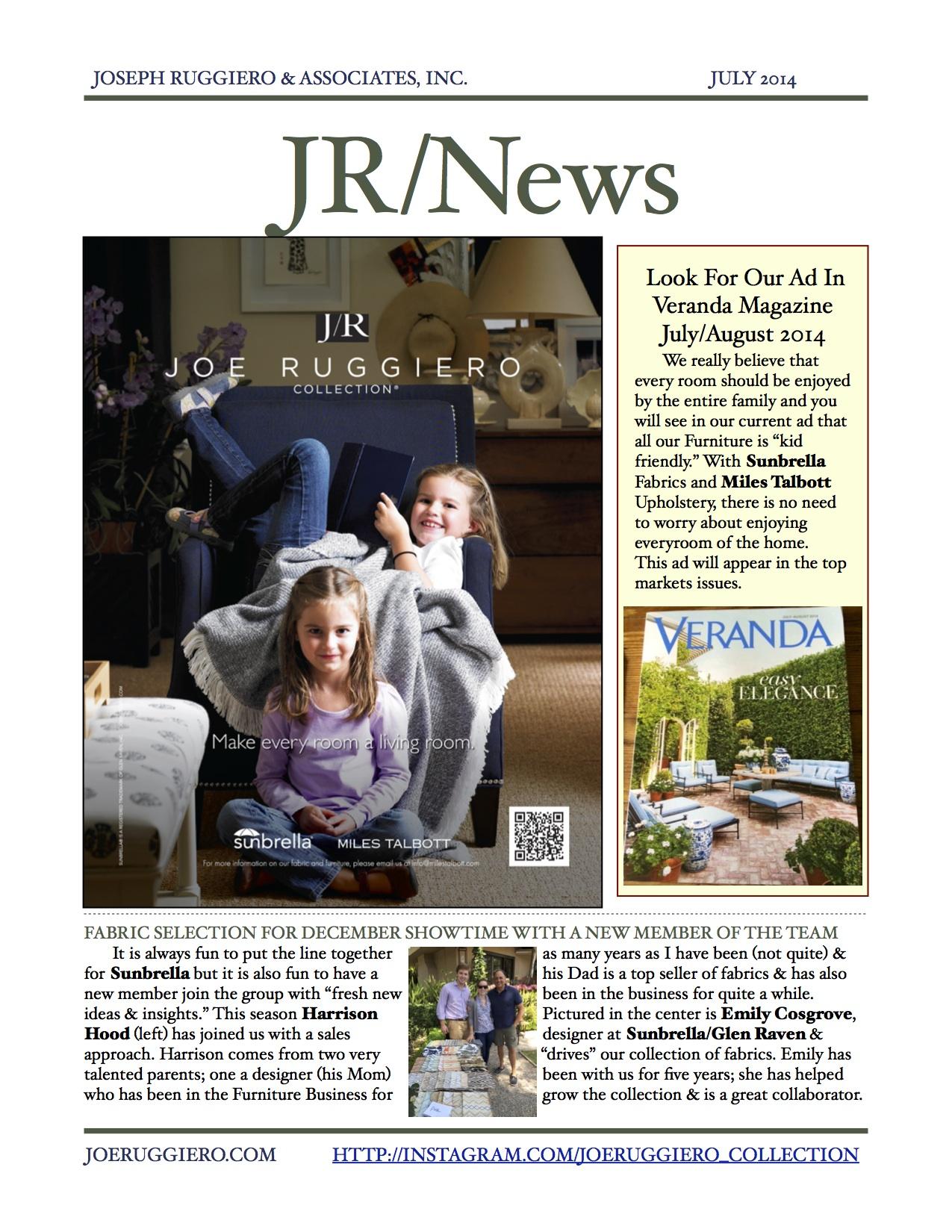 july newsletter joe ruggiero at home. Black Bedroom Furniture Sets. Home Design Ideas
