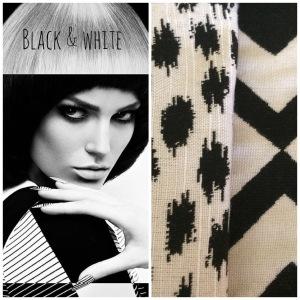 Black & White. A bold look for Joe & Sunbrella!