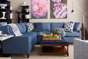 The Joie Sectional was very well received. It is covered in Sunbrella Tailored/Indigo. This ultra sofa fabric will be formally introduced at Showtime ITMAS in December in 12 colors.